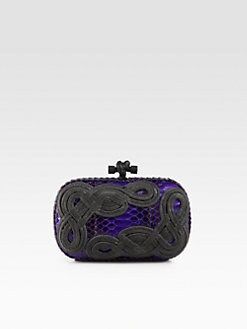 Bottega Veneta - Rope & Python Clutch