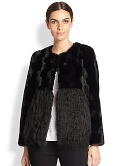 Donna Salyers for Saks Fifth Avenue - Faux Rabbit & Mongolian Lamb Jacket