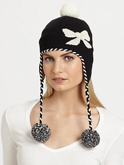 Kate Spade New York - Big Apple Bow Knit Ski Hat