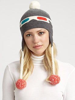 Kate Spade New York - 3D Merino Wool Ski Hat