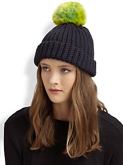 Kate Spade New York - Wool Pom Pom Hat