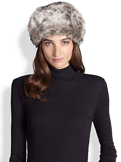 Saks Fifth Avenue Collection - Faux Rabbit-Fur Lined Beret