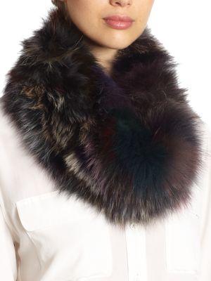 Fox Fur Loop Scarf
