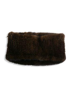 SURELL Mink Fur Headband/Collar