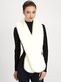 Donna Salyers for Saks Fifth Avenue - Faux Fur Fox Collar