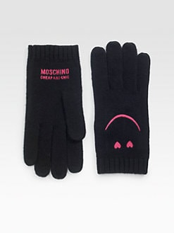 Moschino Cheap And Chic - Smiley Face Gypsy Knit Gloves