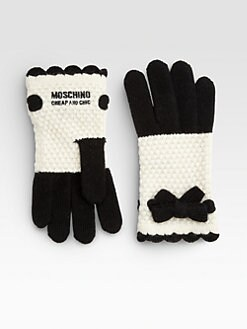 Moschino - Bow Crochet Gloves