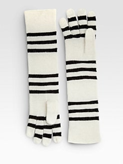 Portolano - Metallic Striped Gloves
