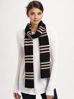 Portolano - Metallic Striped Scarf