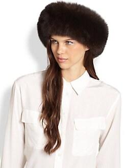 Saks Fifth Avenue Collection - Fox Fur Headband/Collar