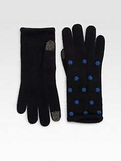 Portolano - Very Berry Dotted Tech Gloves