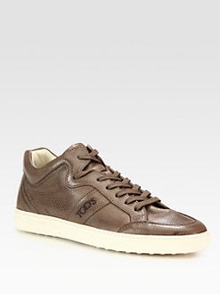 Tod's - Pebbled Leather Sneaker