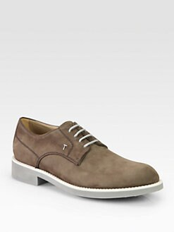 Tod's - Lace-Up Suede Oxfords