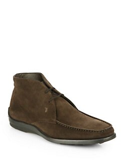 Tod's - Suede Lace-Up Ankle Boot