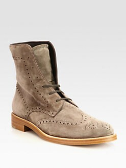 Tod's - Suede Wingtip Boots