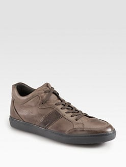 Tod's - Leather Lace-Up Sneakers