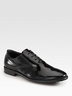 Tod's - Patent Leather Lace-Up Oxfords
