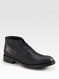 Tod's - Leather Lace-Up Boots