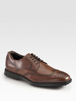 Tod's - Swallowtail Leather Oxfords