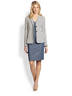 Weekend MaxMara - Striped Jersey Blazer