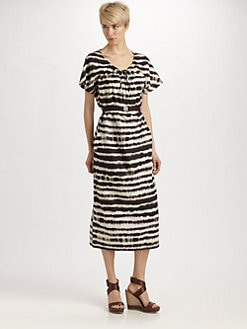 Weekend MaxMara - Stecca Printed Drawstring Dress