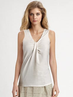 Weekend MaxMara - V-Neck Jersey Tank Top