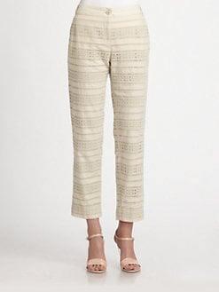 Weekend MaxMara - Cotton Eyelet Pants
