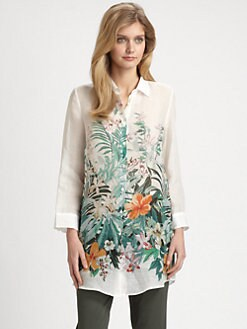 Weekend MaxMara - Aquila Tropical-Print Shirt