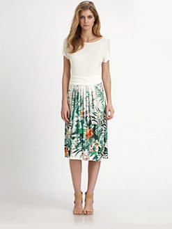 Weekend MaxMara - Utile Tropical-Print Knit Dress
