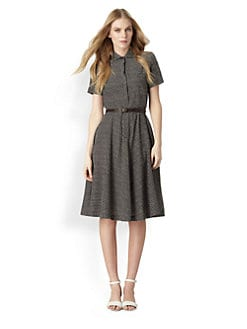 Weekend MaxMara - Checkerbox Belted Shirtdress