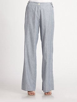 Weekend MaxMara - Rose Pinstripe Pants