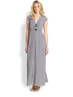 Weekend MaxMara - Silk Afoso Ikat-Print Maxi Dress