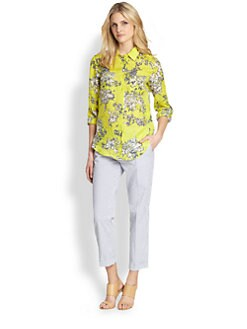 Weekend MaxMara - Linen Ometto Floral-Print Shirt