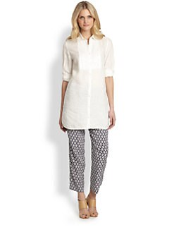 Weekend MaxMara - Frais Beaded-Placket Tunic