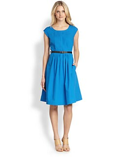 Weekend MaxMara - Tivoli Cap-Sleeve Pleated Dress