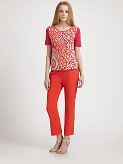 Weekend MaxMara - Paisley-Front Short-Sleeve Top