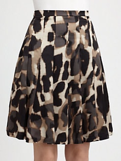 Weekend MaxMara - Abstract Print Silk Skirt