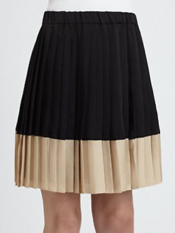 Weekend MaxMara - Pleated Colorblocked Skirt