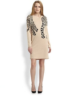 Weekend MaxMara - Jaguar-Print Knit Dress