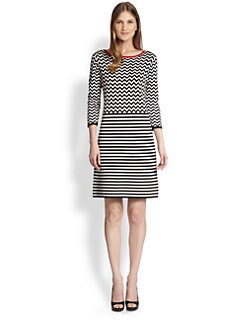 Weekend MaxMara - Patterned Silk/Cotton Dress