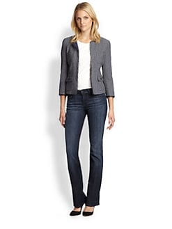 Weekend MaxMara - Alcamo Chiffon-Trim Tweed Jacket