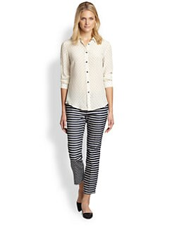 Weekend MaxMara - Printed Silk  Button-Front Shirt