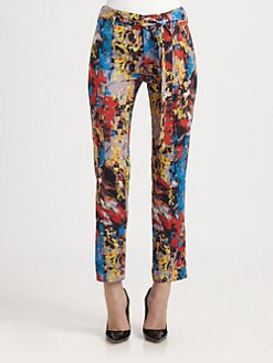 Catherine Malandrino - Silk Georgette Printed Pants