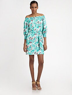 Catherine Malandrino - Silk Off-Shoulder Tunic/Dress