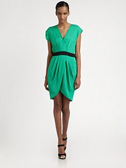 Catherine Malandrino - Stretch-Silk Wrap Dress