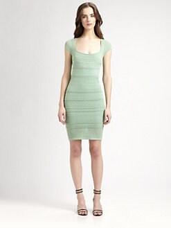 Catherine Malandrino - Short-Sleeve Pointelle Dress