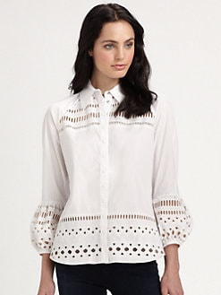 Catherine Malandrino - Cotton Poet Blouse