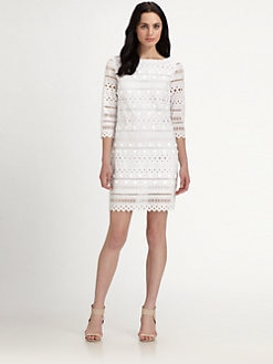 Catherine Malandrino - Cotton Beaded Dress