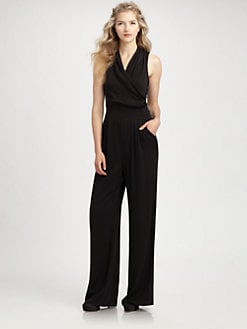 Catherine Malandrino - Chiffon Belted Jumpsuit