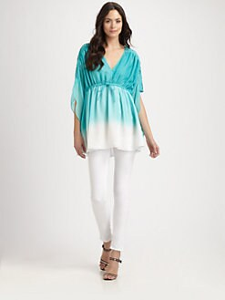 Catherine Malandrino - Silk Caftan Top